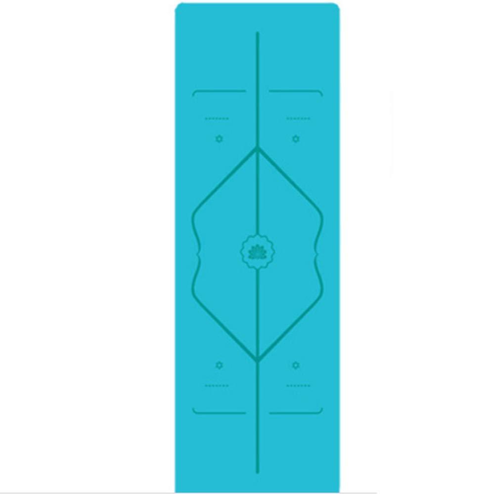 Sweety Sport-Yoga-Matte 1mm tragbare Rutschfeste Gummimatte Yogamatte mit Körper Position Linie 2er Set