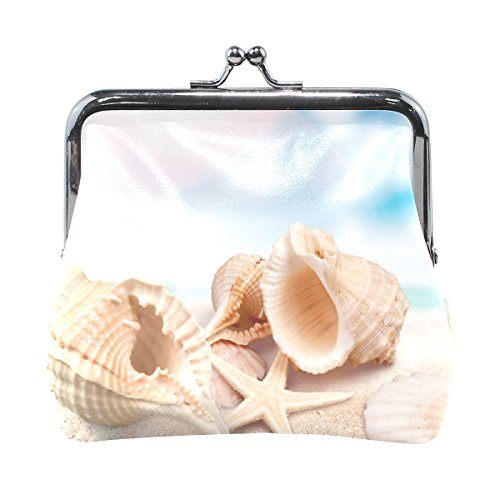 Sea Shell Starfish - Change Coin Purses/Pouch Wallets/Coin Holder for Women Girls