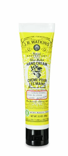 J.R. Watkins Natural Hand Cream, Lemon Cream, 3.3 Ounce