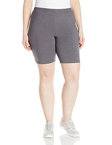 Just My Size Women's Plus-Size Stretch Jersey Bike Short, Charcoal Heather, 4X from Just My Size