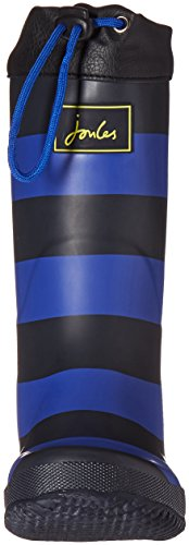 Pictures of Joules Kid's Winter Welly Rain Boot Slate Blue Stripe 6