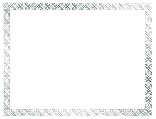"Great Papers! Braided Silver Foil Certificate, 8.5"" x 11"", 15 Count (963027)"