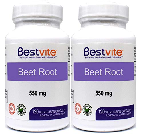 Cheap Beet Root 550mg (240 Vegetarian Capsules) (2-Pack) – No Stearates – No Fillers – Vegan – Non-GMO – Gluten Free