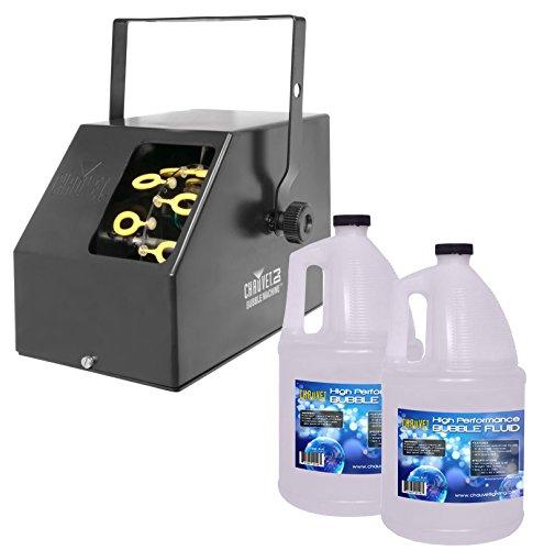 CHAUVET DJ B-250 Compact Bubble Machine Effect + 2 Gallons BJU Bubble Fluid by Chauvet DJ