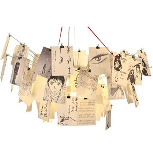 FidgetFidget Zettel'z 5 Paper Card DIY Germany Designer Chandelier Pendant Hanging Light Lamp Cartoon Calligraphy by FidgetFidget (Image #5)