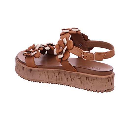 Inuovo 7118-coconut - Sandalias de vestir para mujer marrón