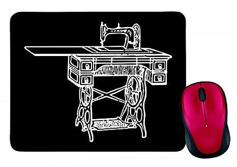 """Alfombrilla de ratón """"Máquina de coser costura de antigüedad Vieja de Retro de"""