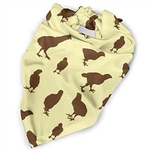 camera MAM Pet Scarf Dog Bandana Bibs Triangle Head Scarfs Chicken Hen Yellow Accessories for Cats Baby Puppy ()