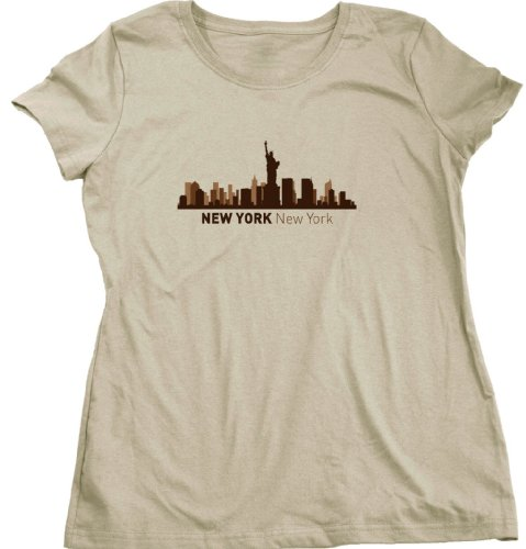 New York, NY City Skyline Ladies Cut T-shirt New York Hometown Pride Tee