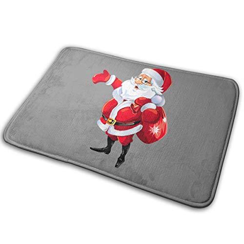 Alpha Doormat Santa Claus Christmas Bath Mat Non Slip Rug Bathroom Bedroom Entrance Carpet 16