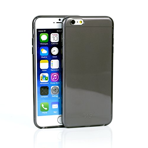 iPhone 6/6s Plus Case, WaKase® [ Crystalline II ] Onxy Black, Crystal Clear Scratch Resistant Glossy Transparent Case , Anti-slip Soft Armor iPhone 6/6s Plus Cover Skin Shock Absorption Flexible Protective Slim Shell Anti-scratch Carrying Case for Apple iPhone 6/6s Plus 5.5 inch