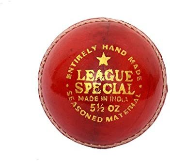 CW Cricket Pelota de Piel Liga Especial (Juego de 3), Color Rojo ...