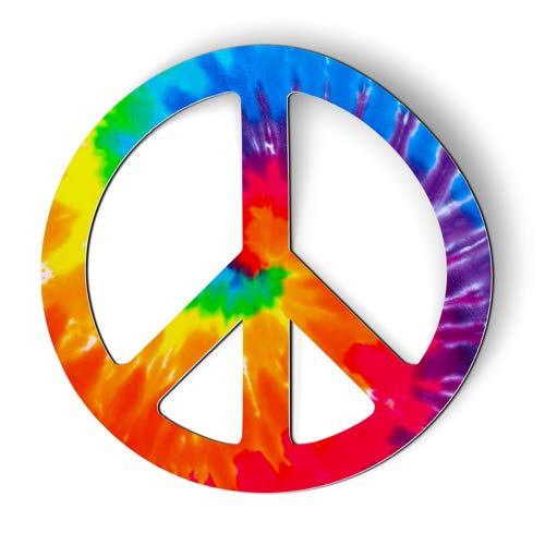 AK Wall Art Peace Sign Tie Dye - Magnet - Car Fridge Locker - Select Size - Trendy Peace Sign