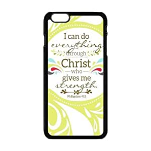 Andre-case Bible Verse - I can do all things through Christ who gives me er4sjgv1SpM strength. Phillippians 4:13 pattern for black plastic iphone 6 plus case cover