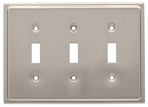 Franklin Brass 126366 Country Fair Triple Toggle Switch Wall Plate Satin ()