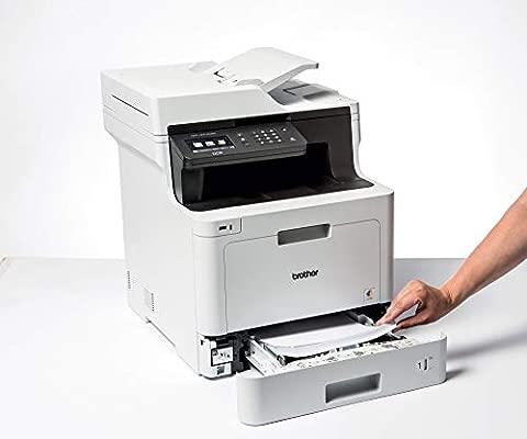 Brother DCP-L8410CDW -Impresora multifunción láser Color Profesional 3 en 1 (impresión, Copia y escaneado, Alta Velocidad, WiFi, impresión a Doble ...