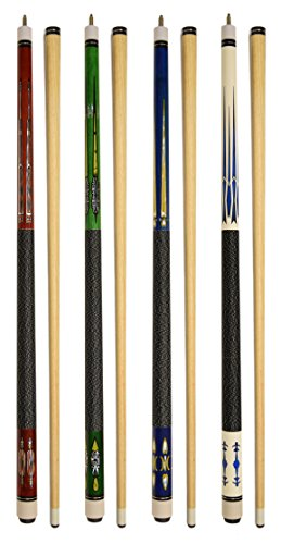 "Set of 4 Pool Cues New 58"" Billiard House Bar Pool Cue Sticks (SET15~18)"