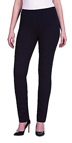 Hilary Radley Womens Sit At The Waist Slim Leg, Pants, Black (10)