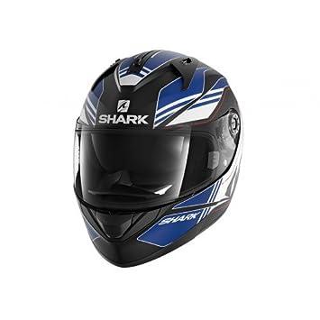 Shark Tiburón ridill Tika mate KBW cascos de motocicleta, color negro/azul, talla