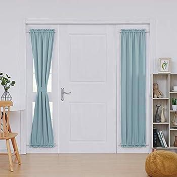 Amazon Com Deconovo Door Panel Curtain Rod Pocket