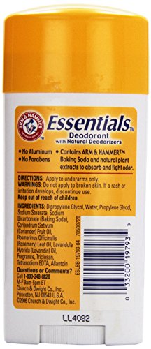 033200197935 - Arm & Hammer Natural Essence Fresh Scent Deodorant, 2.5 oz carousel main 3