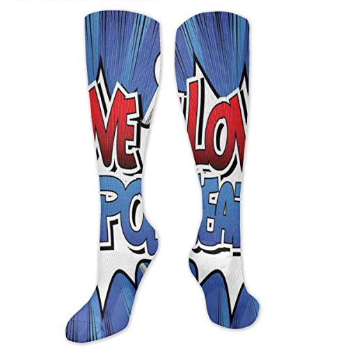 Compression Socks,Comic Style I Love Minneapolis Lettering On Blast Effect Background ()