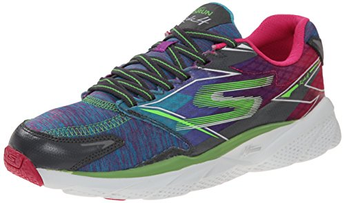 Skechers Performance Womens Go Run Ride 4 Heathered Running Shoe Charcoal Multi MyXupWsl0