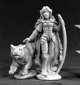 (Dark Heaven Legends Aeris, Elf Ranger and Panther)