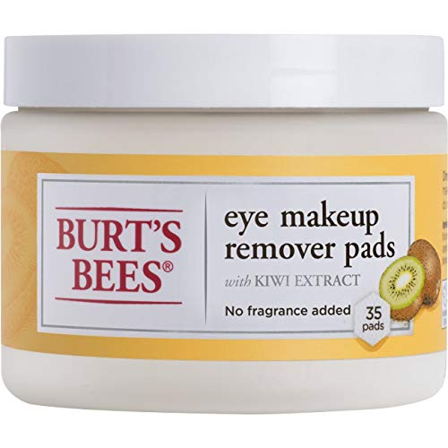 Burt's Bees Eye Makeup Remover Pads, 35 Count, Pack of 3