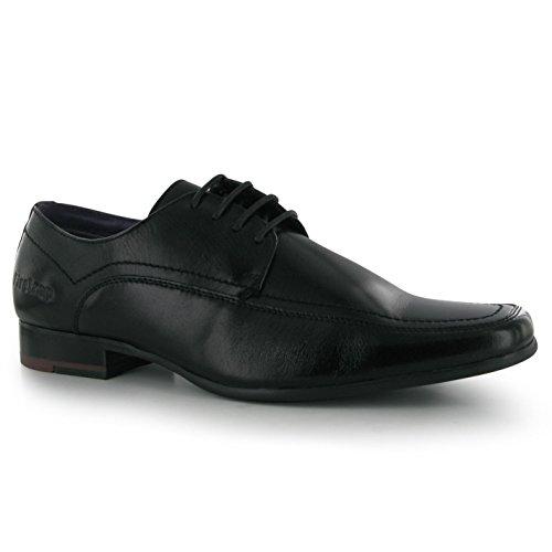 Noir Firetrap Homme Cuir Chaussures Estampé Logo Basses En Boston wBHU8