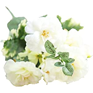 ENCOCO Artificial Camellia Rose Flowers Wedding Bouquets Silk Fake Flowers for Wedding Party Home Decoration 29