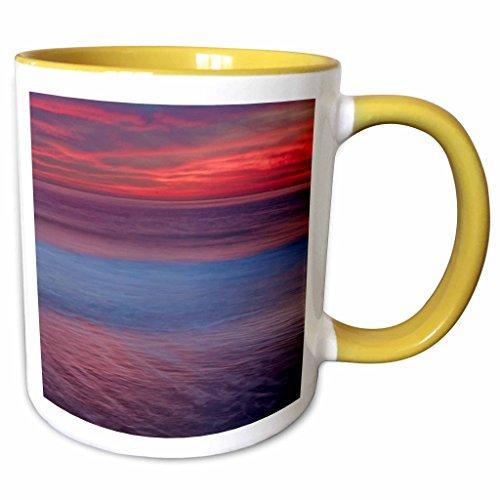 3dRose Danita Delimont - Sunrises - USA, New Jersey, Cape May. Sunrise on ocean shore - US31 BJA0012 - Jaynes Gallery - 11oz Two-Tone Yellow Mug - Shore New Jersey Outlets
