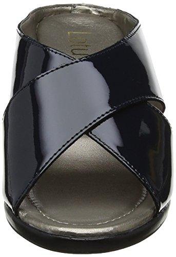 mit Damen Keilabsatz Trino Lotus Navy Patent Offene Sandalen Blue qadgPwpI