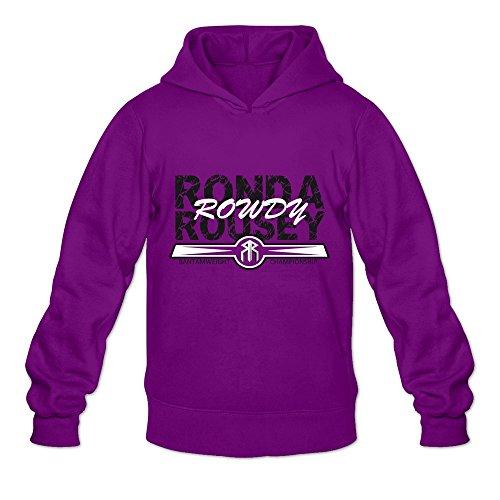Men's Ronda Rousey Hoodies Size L Purple -