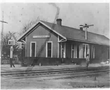 Photo Railroad Depot Herndon Virginia c1900