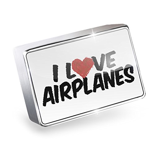 Floating Charm I Love Airplanes Fits Glass Lockets, Neonblond (Airplane Floating Locket Charm)
