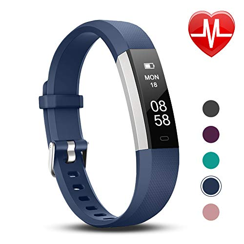 Letsfit Fitness Tracker with Heart Rate Monitor, Slim Activity Tracker Watch, Pedometer Watch, Sleep Monitor, Step Counter, Calorie Counter, Waterproof Smart Band for Kids Women and ()