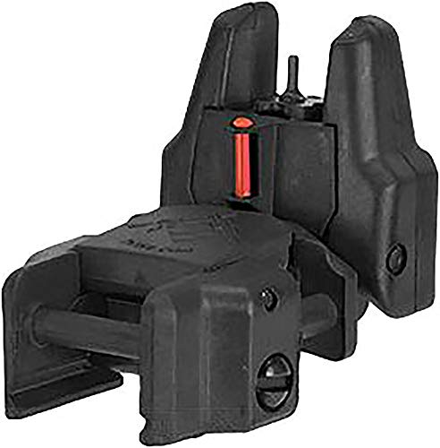 Evike Dual-Profile Rhino Fiber Optic Flip-up Rifle/SMG Sight for Airsoft - Front Sight (Color: Black) by Evike