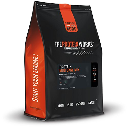 The Protein Works, Protein Mug Cake Mix, High Protein Mug Cake Mix, Rich Chocolate Fudge, 500g by The Protein Works (Chocolate 500g Cake)
