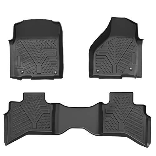 Maxiii Floor Mats Heavy Duty Rubber Car Floor Mats All Weather Protection Custom Floor Liners Compatible for 2013-2018 Dodge Ram 1500 Quad Cab