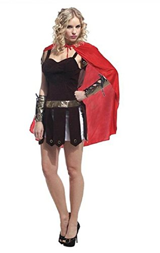 Dongya Women's Costume Warriors Ancient Rome General Cosplay Costume