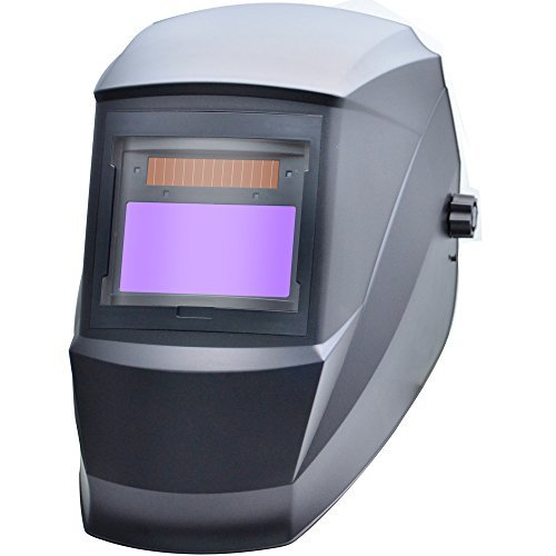 Antra AH6-330-0000 Digital Controlled Solar Power Auto Darkening Welding Helmet with AntFi X30 Shade 5-8/9-13 with Grinding Feature Extra lens covers Good for Arc TIG MIG meet CSA/ANSI by Antra by Antra