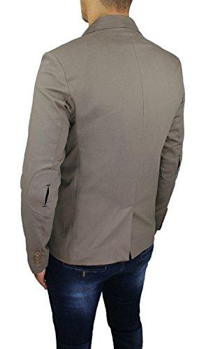 Xs Casual Slim Made Italy Taglia Super Xxl M Aderente L S Sartoriale Fit Xl In Uomo Beige Blazer Giacca HAWwOq8gn