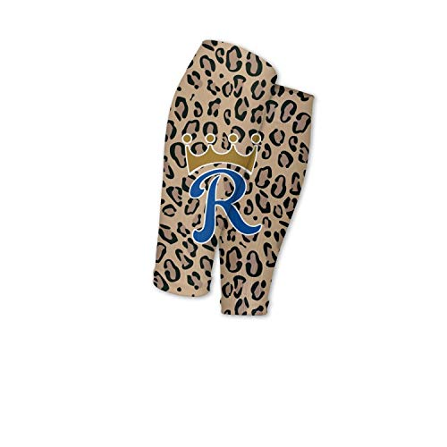 KGHBVNGKHKIHJ Calf Compression Sleeve Socks King-Crown-Kansas-Leopard-Print-Background- Calves Running Women Men Kids ()