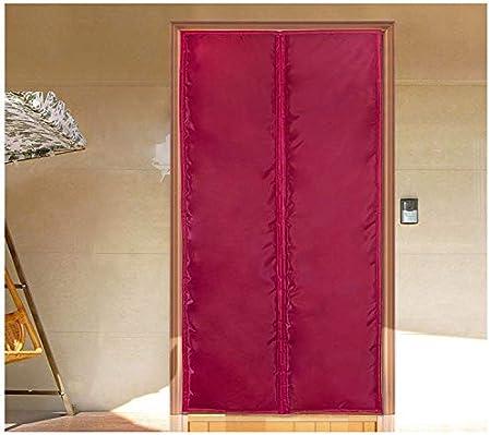 WUFENG-Cortina de puerta Magnético Protección Térmica Entrada Panel Bloque Frio Cocina Pasillo Aislamiento Cálido Impermeable (Color : Pink, Size : 85cmx200cm): Amazon.es: Hogar