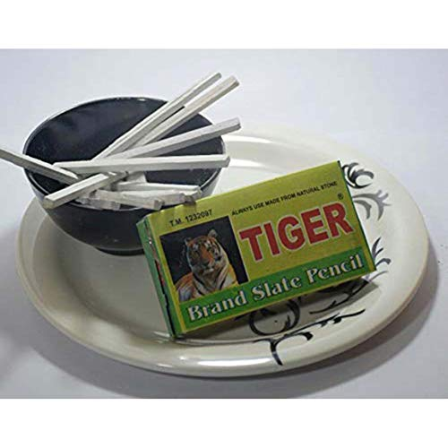India Clay Tiger Brand Slate Pencils -Pack of 5 Boxes