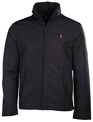Polo Ralph Lauren Mens Perry Lined Winter Jacket (XL, RL Black/Red Pony) (Fleece Mens Ralph Lauren)