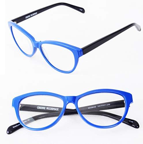Corinne McCormack Marge Women's Reading Glasses Cat Eye Blue (Blue, ()
