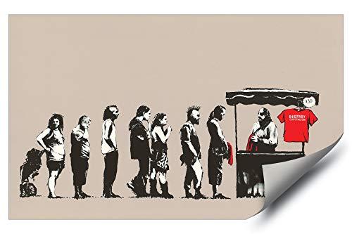 - Banksy Street Graffiti Destroy Capitalism T-Shirt Stand HD Vinyl Wall Art Poster Decal Sticker
