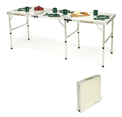 Trademark Innovations Portable Lightweight Aluminum Folding Table